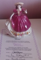 Rose -  Coalport Fairest Flowers with Authenticity Certificate