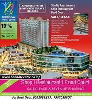Indirapuram Habitat Centre,  Studio Apartments,  Retail Shops,  Shops For